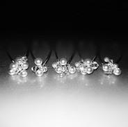 Cluster Bridal Hair Pins