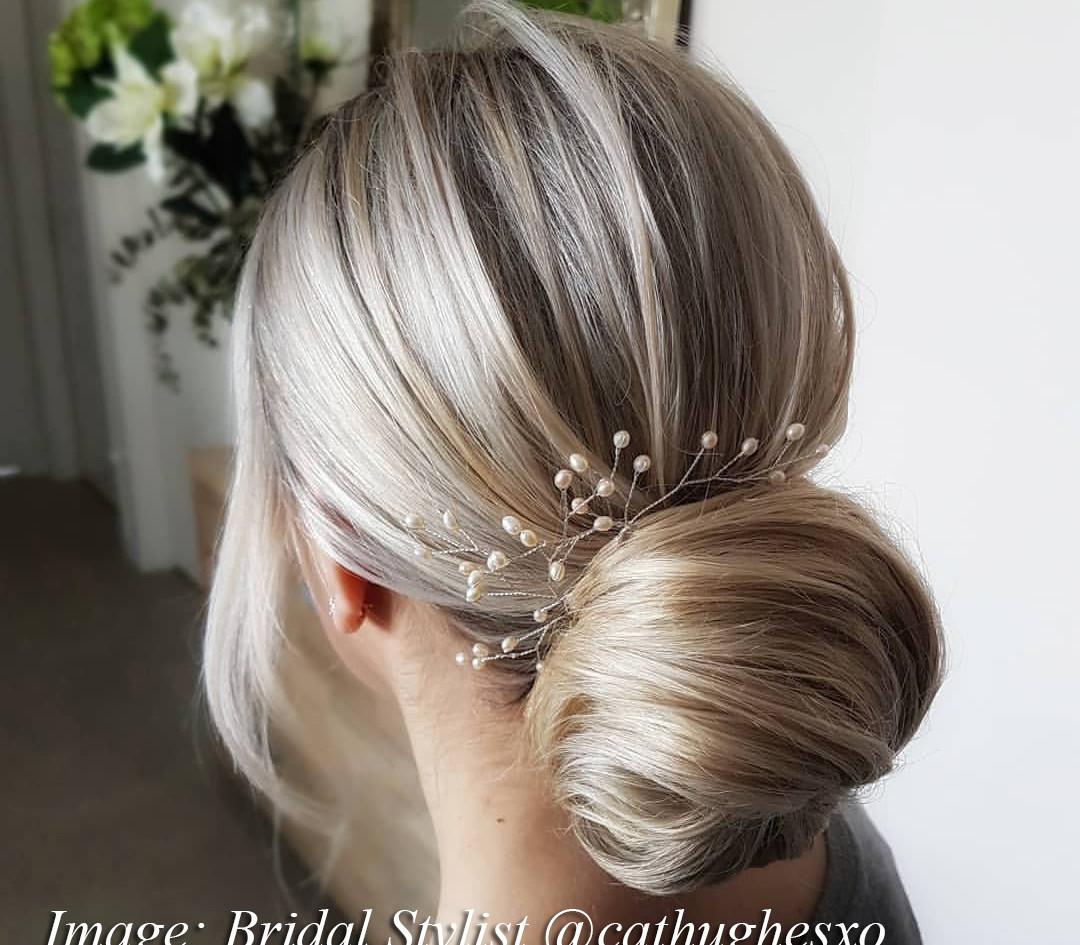 Fern Freshwater Pearl Bridal Hair Pins_S