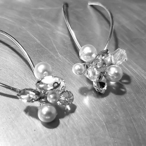 Rhinestone, Swarovski Pearl & Crystal Cluster Hair Pins