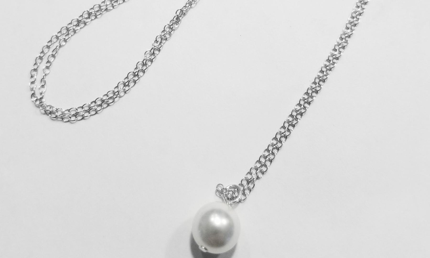 Pearl or Swarovski Bridal Necklace 02_St