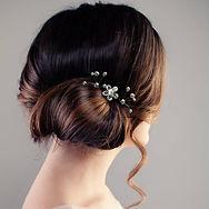 Freshwater Pearl Firework Hair Pins and Swarovski Crystal Flower Bridal Hair Pins