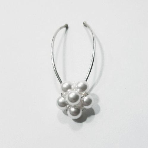 Swarovski Pearl Daisy Sterling Silver Bridal Hair Pins | STERLING HAIRPINS