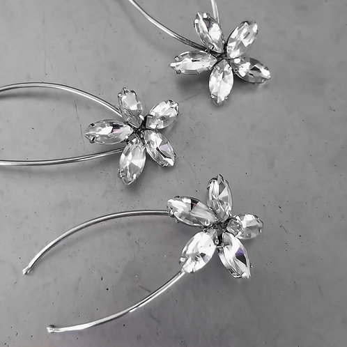 Susie Rhinestone Flower Bridal Hair Pins