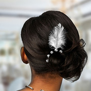 Feather Solitaire Bridal Hair Pins