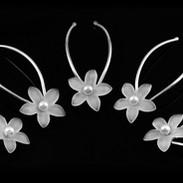 Pearl Star Flower Bridal Hair Pins