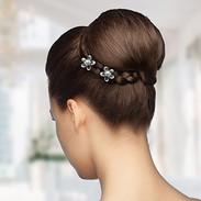 Crystal & Pearl Flower Bridal Hair Pins