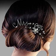 Sterling Silver Monogram Wedding Hair Pins