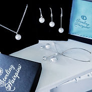 Sterling Silver Bridal Necklaces and Earrings. Wedding Jewelry Set.