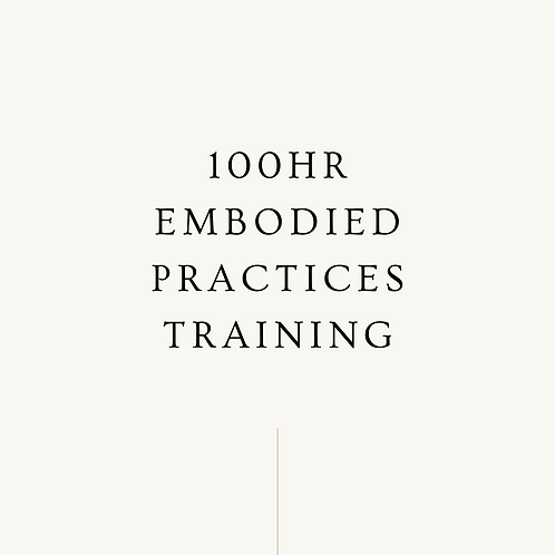 100hr Embodied Practices Training