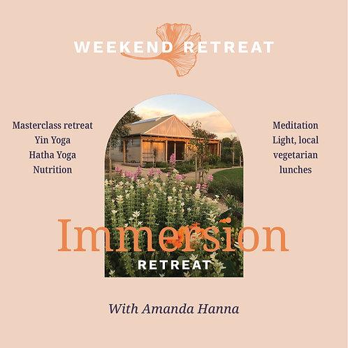 Weekend Immersion Retreat