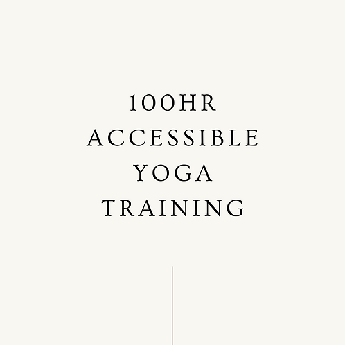 100hr Accessible Yoga Training m