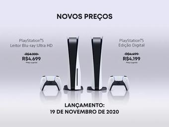PLAYSTATION 5: Sony anuncia os novos preços do console no Brasil