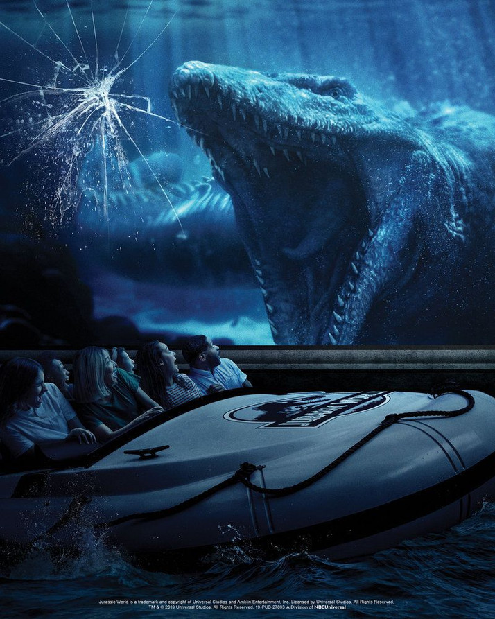 Jurassic World: The Ride na Universal Studios Hollywood (SPOILERS)
