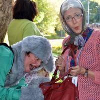 The scaredy wolf and Grandma