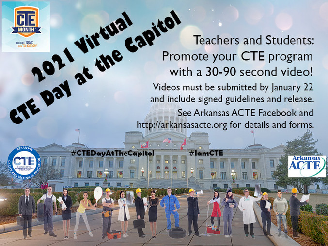 2021 CTE Day video call for submissions.