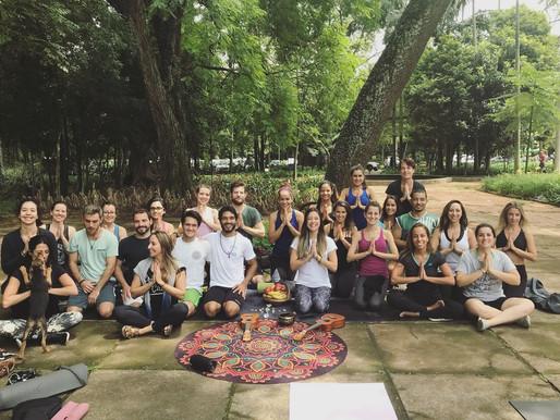 Aulas de Yoga no parque Ibirapuera