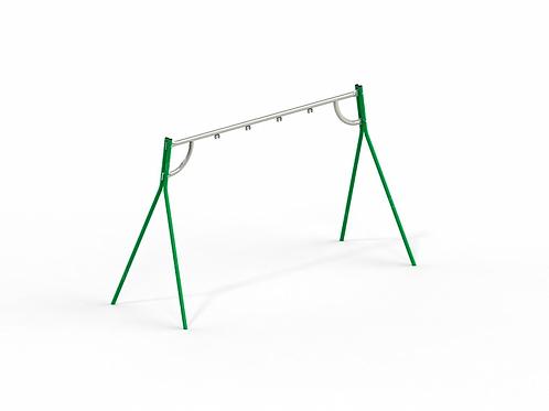 4155 - Качели на металлических стойках с оцинкованной балкой