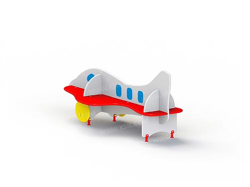 """2408 - Скамейка детская """"Самолет"""""""