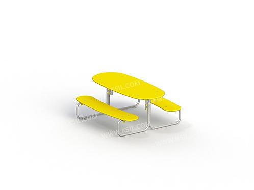 2606 - Стол со скамьями детский
