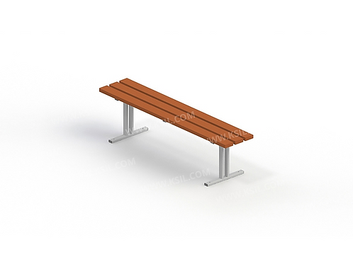 2202 - Скамья садово-парковая на металлических ножках