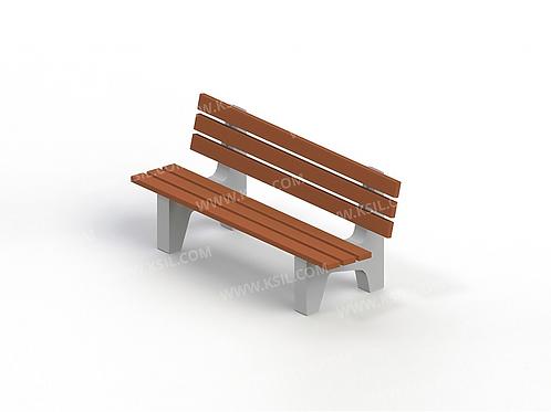 2105 - Диван садово-парковый на железобетонных ножках