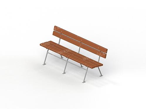 2211 - Диван садово-парковый на металлических ножках