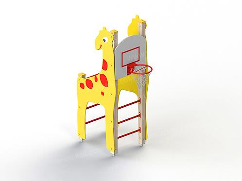 6150 - Детский спортивный комплекс «Жираф» с баскетбольным щитом