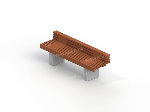2101 - Диван садово-парковый на железобетонных ножках