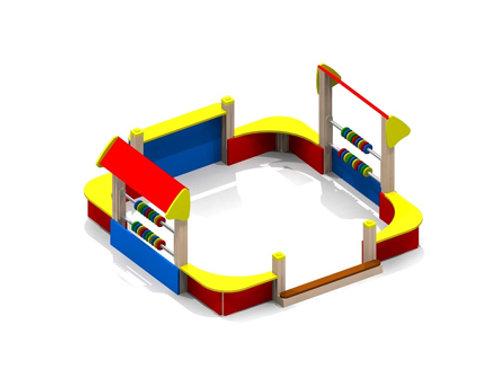4266 - Песочный дворик без входной арки и козырька