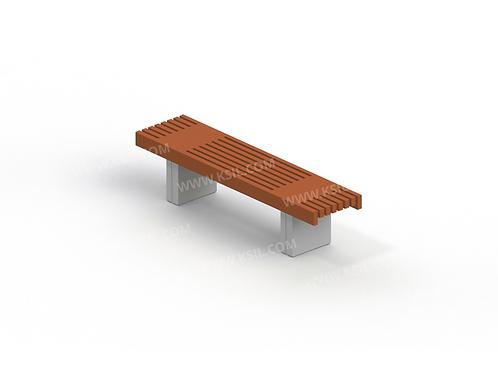 2102 - Скамья садово-парковая на железобетонных ножках