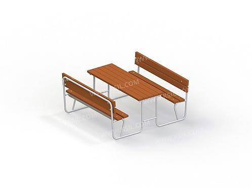 2605 - Стол со скамьями без навеса