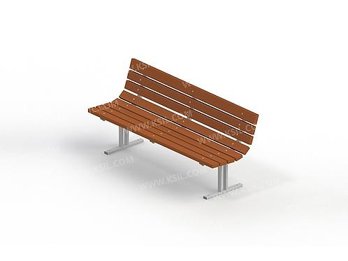 2201 - Диван садово-парковый на металлических ножках