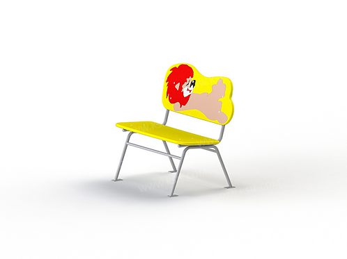 """2407 - Скамейка детская на металлических ножках """"Львенок"""""""