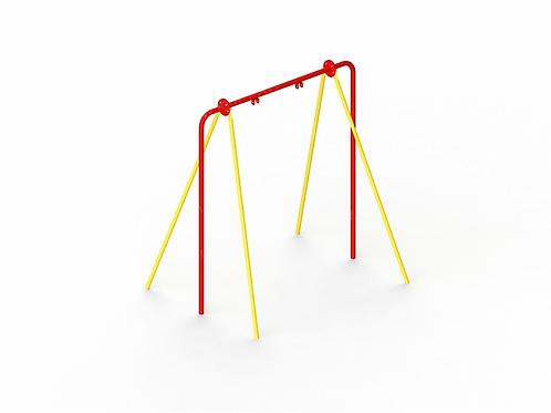 4154 - Качели на металлических стойках для гибкой подвески