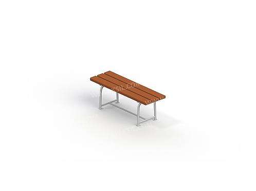 2214 - Скамья садово-парковая на металлических ножках