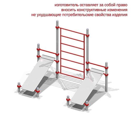6462 - Комплекс из двух скамеек для пресса и шведской стенки