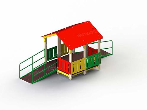 4351 - Манеж с двумя входами для детей с огр. физ. возможностями