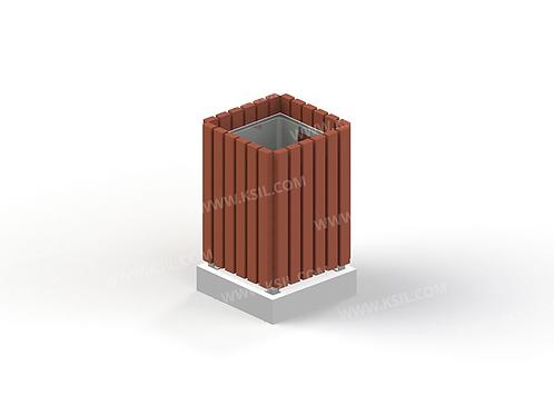 1311 - Урна деревянная на ж/б основании