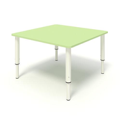 Стол квадратный на регулируемых ножках