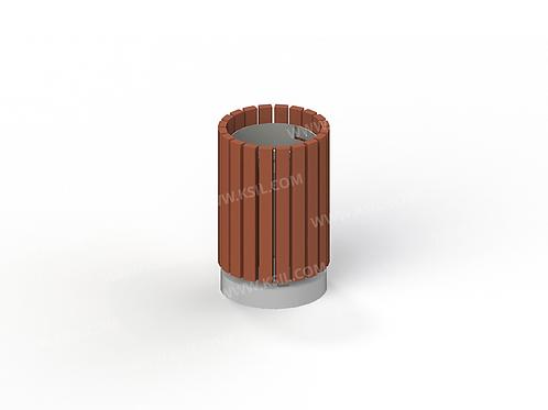 1312 - Урна деревянная на ж/б основании