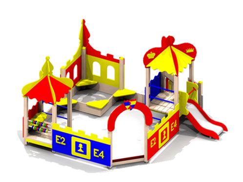 4287 - Песочный дворик с горкой «Шахматный клуб»