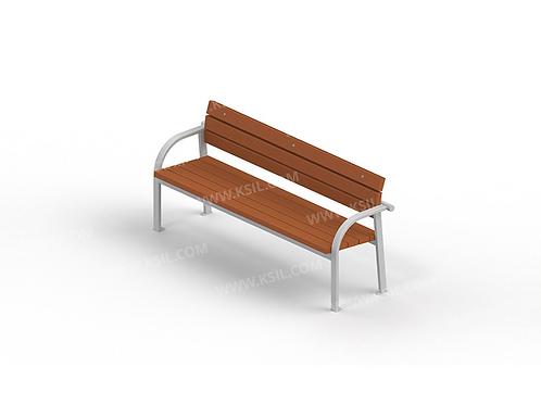 2205 - Диван садово-парковый на металлических ножках
