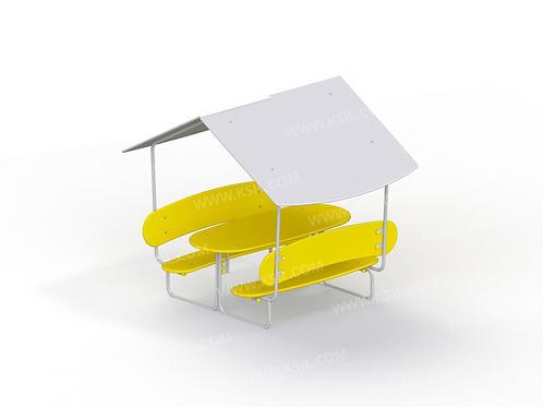 2603 - Стол со скамьями и навесом детский