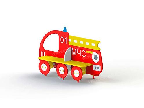 """2411 - Скамейка детская """"Пожарная машина МЧС"""""""