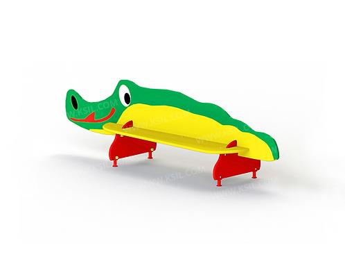 """2409 - Скамейка детская """"Крокодил"""""""