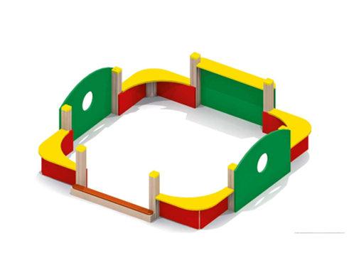4265 - Песочный дворик без входной арки и козырька