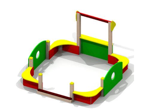 4262 - Песочный дворик без входной арки