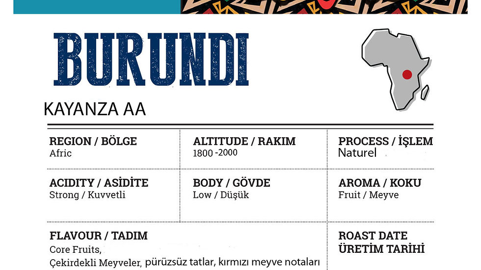 Burundi Kayanza AA Naturel