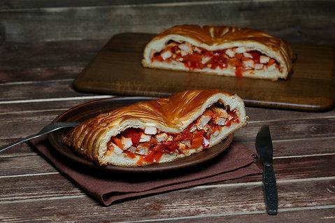 Комбо: Пирог с курицей и овощами 1 кг + пирог с черникой 1 кг