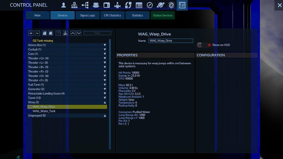 WAG Warp Drive w/WAG Warp Tank